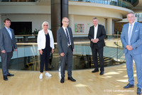 Dr. Marcus Optendrenk (CDU), Jutta Endrusch, Roland Staude, Bodo Löttgen (CDU), Andreas Hemsing (v.l.n.r.) (© CDU Landtagsfraktion)